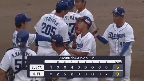 9月16日(水) ファーム公式戦「中日vs.オリックス」【試合結果、打席 ...