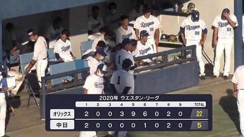 10月11日(日) ファーム公式戦「中日vs.オリックス」【試合結果、打席 ...